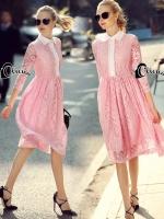 Pinky Girl Cute Lace Dress