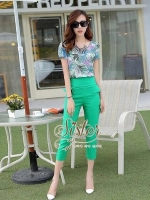 Madame Korea Set with 2trousers color
