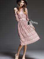 Gloria 3 Colors Luxury Lace Dress