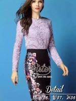 Purple Lace se with Blac Flora Fancy Skirt