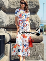 Variousy Flora color playsuit