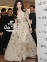 Valentino stars red carpet maxi dress