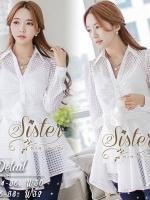 Korea Shirt with Pure White Ribbon