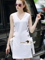 Seoul Secret Say's... Chic Puncture Loopy Whity Beside Opened Set Material : เนื้อผ้า Viscose เนื้อสวยอย่างดี เรียบเก๋สไตล์สาวไฮด้วยเว็ทเสื้อแขนกุดตัวยาว มาพร้อมกับกางเกงขาสั้นใส่แมตซ์กัน ตัวสเอมีดีเทลเก๋ๆ ด้วยดีเทลผ่าที่ด้านข้าง เติมความเก๋ด้วยงานเย