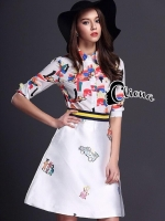 Tropical Siam Multicolor Shirt + Skirt Set