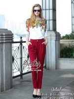 Beauty Vintage Fancy Top & Red Premium Trousers