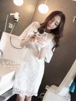 Angel Ops Lace Dress เดรสลูกไม้ฉลุลายซีทรู