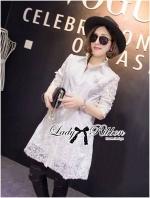 Lady Kate Embellished Insert Lace Shirt