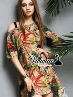 Tropical gypsy dress