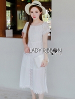 Embroidered Cotton Lace Maxi