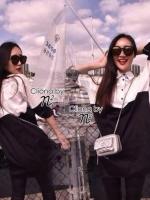 Pearl Harbour B&W Bi-Color Long Shirt