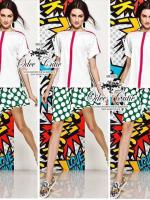 Moschino zipper t-shirt and polka dot skirt