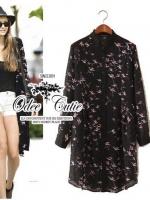 Zara Hummingbird long coat shirt
