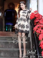 Beauty Girly Black Gmmic Lady Dress