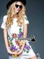 Flora embroider princess dress