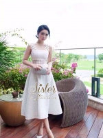White Dress with white sponge design