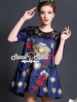 D&G Style Embroider Denim Dress