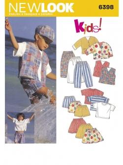 Pre-Order NewLook (6398) แพทเทิร์นตัดเสื้อผ้าเด็กชาย เด็กหญิง