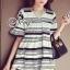Strips Ribbon Back Mini Dress thumbnail 1