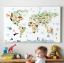กรอบลอยแคนวาส Animal map of the world 36 x 24 นิ้ว thumbnail 3