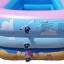 สระน้ำเด็กเป่าลม ลายหนูน้อยบนหาดทราย สีชมพู ขนาดกลาง 130 cm ขอบ 3 ชั้น แถมฟรี ห่วงยางคอเด็ก thumbnail 2