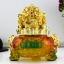 เซียมซู้มงคล(กบคาบเหรียญ)บนกระถางทอง นำโชค คาบเงินคาบทอง อวยพรโชคลาภ thumbnail 6