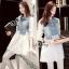 Mix Genda Denim Pearl Long Sleeve Shirt thumbnail 1