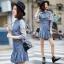 Long Sleeve Denim Mini Dress thumbnail 1