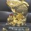 ปลาหลีฮื้อทองเล่นน้ำบนฐานคริสตัลค้าขายร่ำรวย thumbnail 1