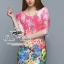 Colorful blooming lace mini dress thumbnail 1