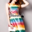 Rainbow A-shape dress เนื้อผ้าโพลีเอสเตอร์เนื้อผ้าขึ้นทรงสวย Detail : เดรสแขนกุดเข้ารูปชายกระโปรงทรงพองนิดๆ + พิมพ์ลายสี Rainbow สีน่ารักมากคะ Style : ลุคสาวหวานเก๋ Fashionista thumbnail 1