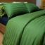 ชุดผ้าปูที่นอนโรงแรมลายริ้ว 3.5 ฟุต (3 ชิ้น) สีเขียว thumbnail 1