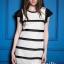Zara striped lace dress thumbnail 1