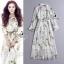 Forest Shirt Style Longe Sleeve Maxi Dress thumbnail 1
