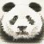 กรอบลอยผ้าแคนวาส ภาพหมีแพนด้าอาร์ต thumbnail 1