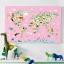 กรอบลอยแคนวาส Animal map of the world 30 x 20 นิ้ว thumbnail 3