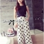 Cut-Out Cropped Top and Polka Dot Culotte thumbnail 1