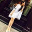 Sevy Dior Fake Sleeve Lace Flora Mini Dress thumbnail 1