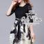 Black&white is gorgeous dress เดรสแบรนด์เนมลุคเรียบหรู โทนสีขาว-ดำคลาสสิค ตัวเสื้อลูกไม้ตัดต่อกระโปรงทรง knife-pleated พิมพ์ลายสวยมากค่ะ ตัดต่อซับในในตัว ทรงสวยเหมือนนางแบบค่ะ Odee&Cutie นำเข้าสินค้า Premium quality สาวๆพลาดไม่ได้นะคะ cuttingเนี๊ยบประณีตก thumbnail 1