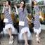 Stripes Classy Perforate Edge Midi Dress thumbnail 1
