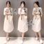 Embroidered Shirt Style Mini Dress thumbnail 1