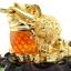 เซียมซู้มงคล กบคาบเหรียญมงคลบนใบบัวนำโชค คาบเงินคาบทอง อวยพรโชคลาภ thumbnail 2
