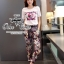 Chanel logo printed and chic trouser set thumbnail 1