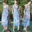 The Embroidered Vintage Bohemian Style Maxi Dress thumbnail 1