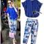 Blue Magic Print Shirt + Pant Set thumbnail 1