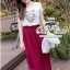 Short Sleeved Waist Slimming Long Dress thumbnail 1