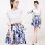 English Style Printed Pleat Mini Skirt thumbnail 1