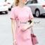 Peachy Coral Pink Diamond Dress thumbnail 1