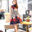 Luxury eye retro print Dress thumbnail 1