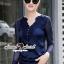 Saphire Blue Lace Blouse thumbnail 1